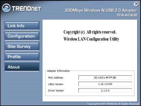 TRENDnet 300Mbps Wireless N USB 2.0 Adapter