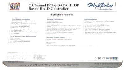 HighPoint RocketRAID 3120 Controller Review