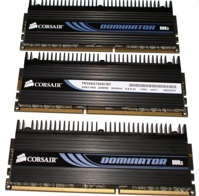 Corsair Dominator 1600MHz Triple Channel Memory Kit