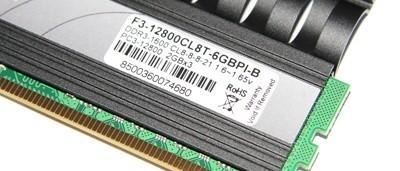 G.Skill PI Black PC3-12800 (1600MHz) CL8 6GB Memory Kit