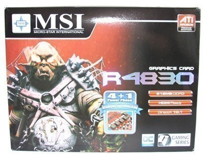 MSI Radeon HD 4830 512MB OC Edition Graphics Card