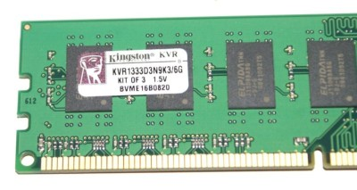 Kingston Triple Channel 1333MHz 6GB Memory Kit