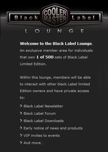 Cooler Master Black Label - Limited Edition Cosmos Chassis