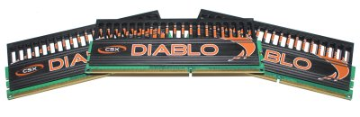 CSX DIABLO DDR3-2000MHz 3GB Triple Channel Memory Kit