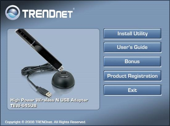TRENDnet TEW-645UB High Power Wireless N USB Adapter