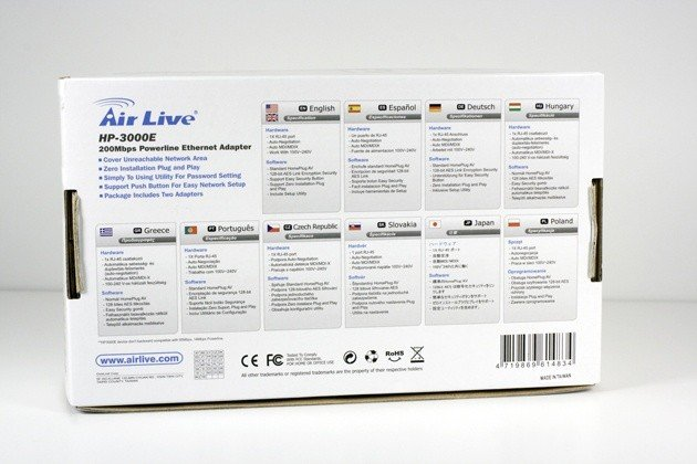 Air Live HP-3000E Power Line Adapter Kit