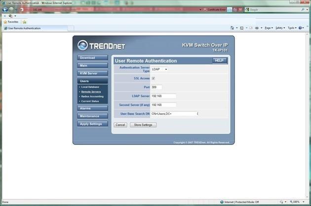 TRENDnet TK-IP101 KVM IP Switch with TK-423K KVM