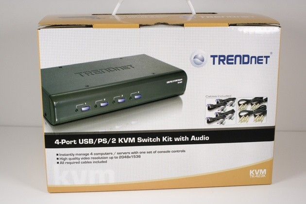 TRENDnet TK-IP101 KVM IP Switch with TK-423K KVM