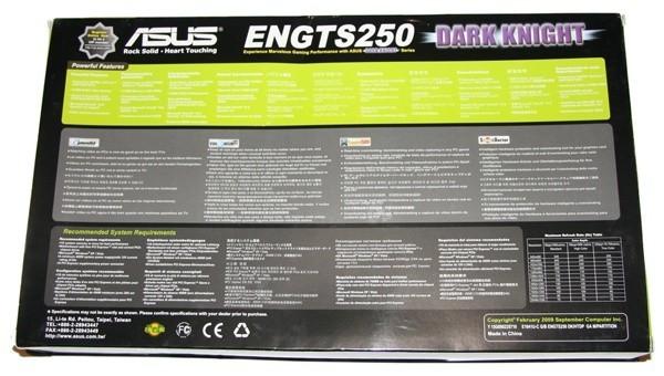 ASUS GTS 250 Dark Knight Graphics Card