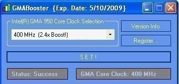 GMABooster - improving Intel GMA IGP netbook performance