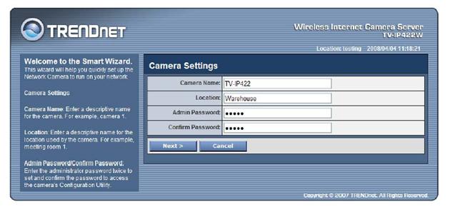 TRENDNet TV-IP422W Wireless IP Camera Server with 2-way Audio