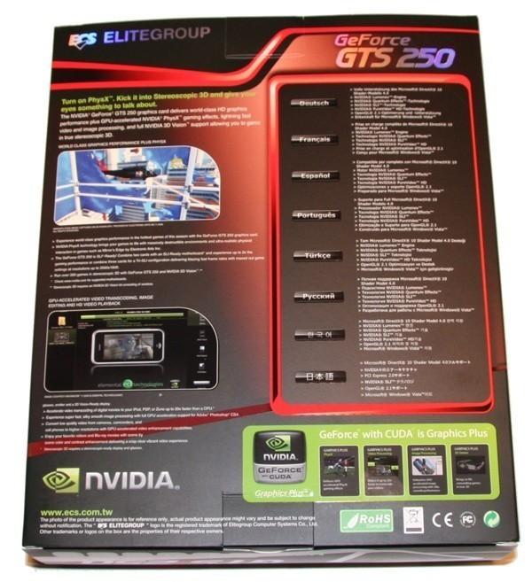 ECS GTS 250 1GB Graphics Card