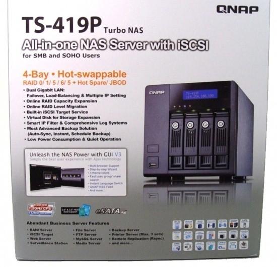 QNAP TS-419P Four-Bay Turbo NAS Server