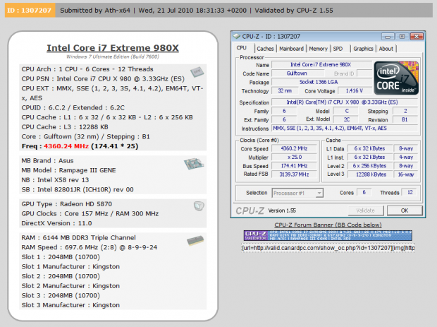 ASUS Rampage III Gene (X58 Express) Motherboard