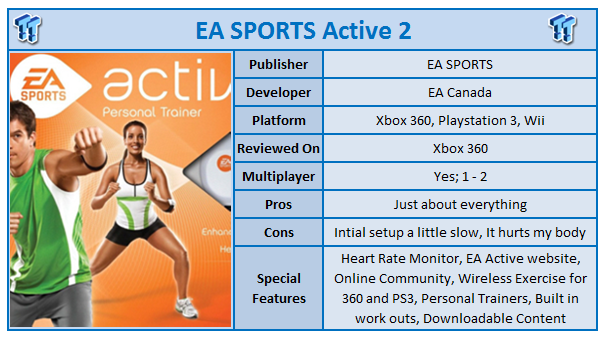 ea sports active 2 xbox 360 kinect review. Black Bedroom Furniture Sets. Home Design Ideas