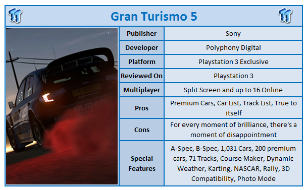 Gran Turismo 5 PlayStation 3 Review