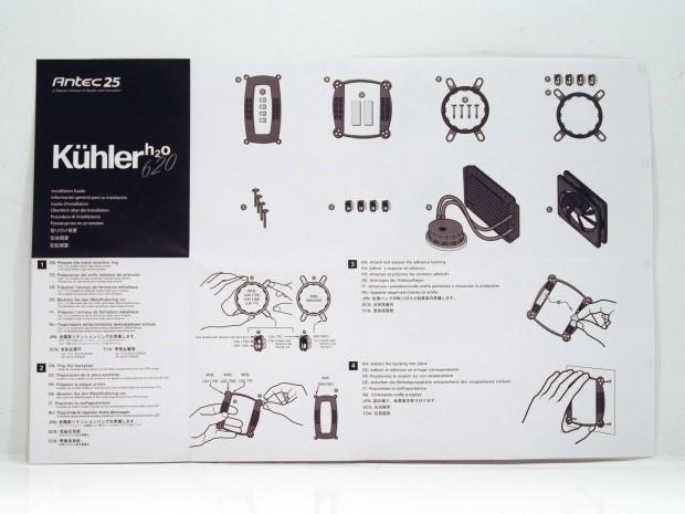 Antec K HLER H2O 620 Liquid Cooling CPU Cooler Review