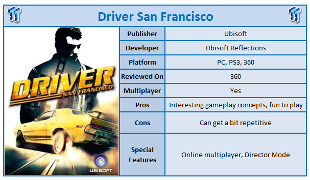 Driver San Francisco Xbox 360 Review Tweaktown