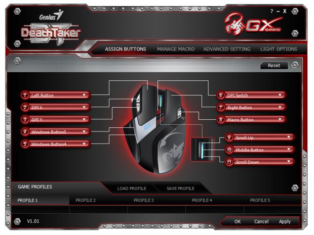 Genius GX Gaming DeathTaker MMO/RTS Professional Gaming