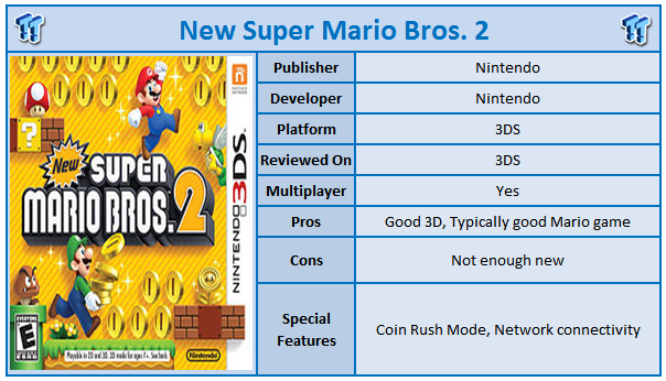 New Super Mario Brothers 2 Nintendo 3DS Review