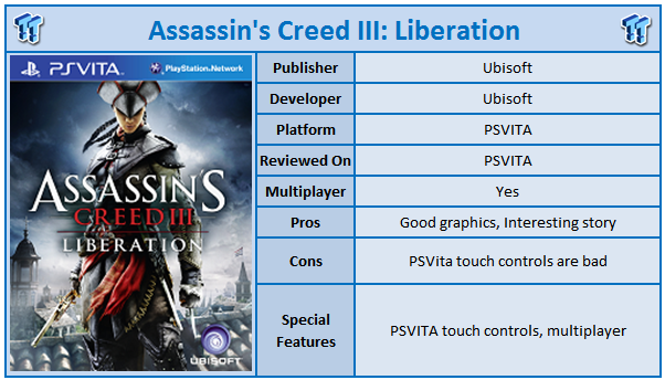 Assassin S Creed Iii Liberation Playstation Vita Review Tweaktown