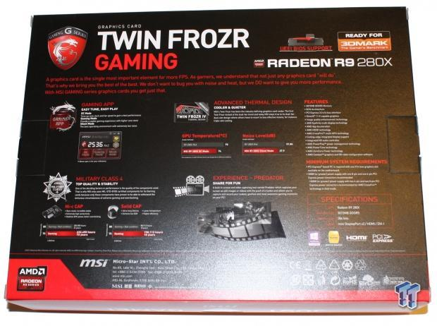 MSI Radeon R9 280X 3GB Twin Frozr OC in CrossFire Video Card