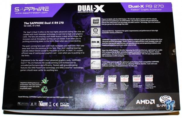 Sapphire Radeon R9 270 Dual-X 2GB OC Overclocked Video Card