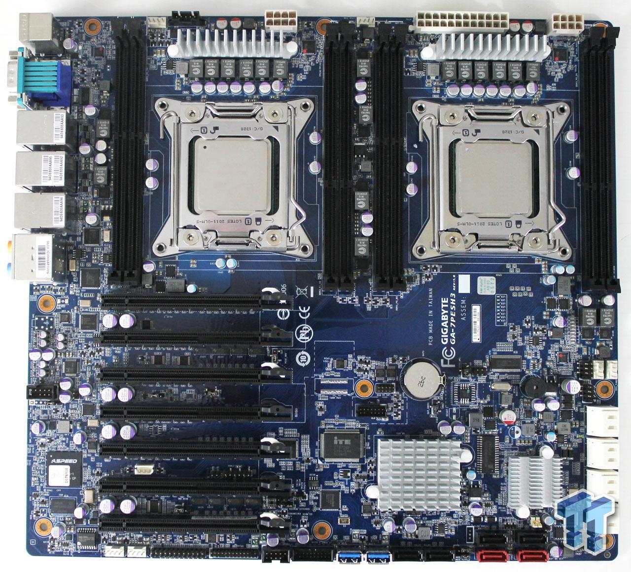 Gigabyte Ga 7pesh3 Intel C602 Workstation Motherboard Review