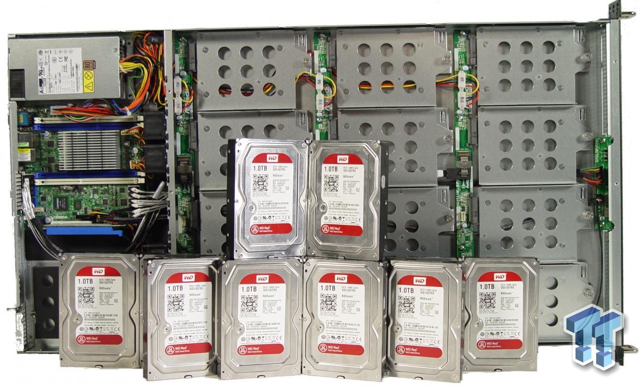 Asrock rack 1u12lw c2750 12 bay storage server review for Storage bay