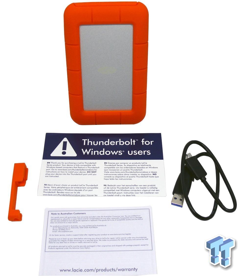 Lacie Rugged Usb 3 0 Thunderbolt 500gb External Storage Ssd Review Tweaktown