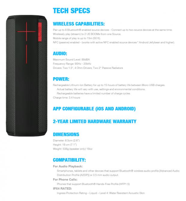 Logitech UE Boom Wireless Bluetooth 360-degree Speaker Review