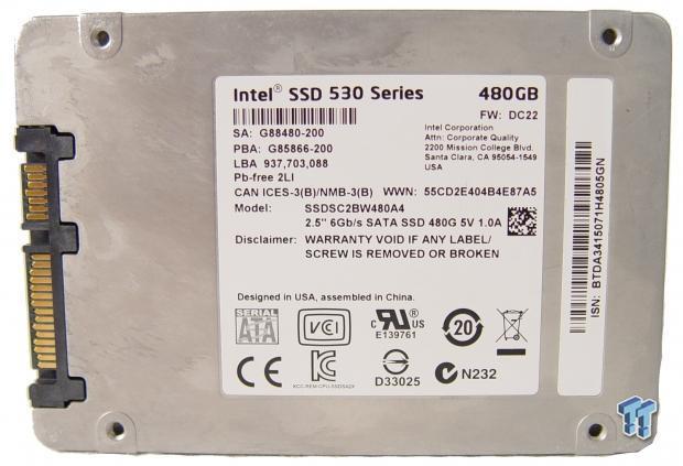 """Intel 480GB 2.5/"""" 6Gb//s SATA SSD 530 Series SSDSC2BW480A4"""