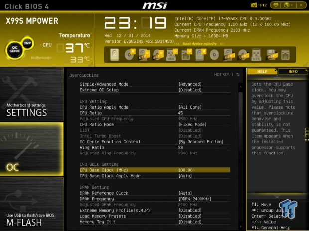 MSI X99S MPower Motherboard Overview and Overclocking Guide