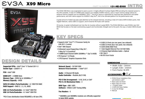 EVGA X99 Micro (Intel X99) Micro-ATX Motherboard Review