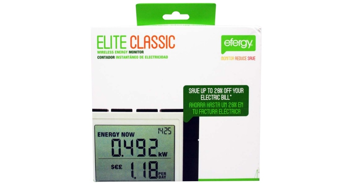 Whole House Electricity Monitoring : Efergy elite classic whole home power monitor review