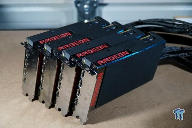 AMD Radeon R9 Fury X Video Cards in 4-way CrossFire at 4K