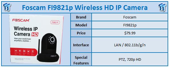 Foscam FI9821P 720p HD Wireless IP Camera Review