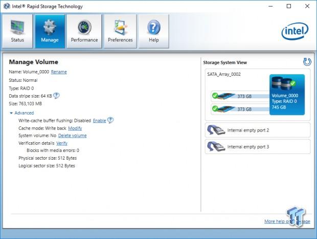 Intel 750 NVMe 400GB U 2 SSD Bootable RAID 0 Report