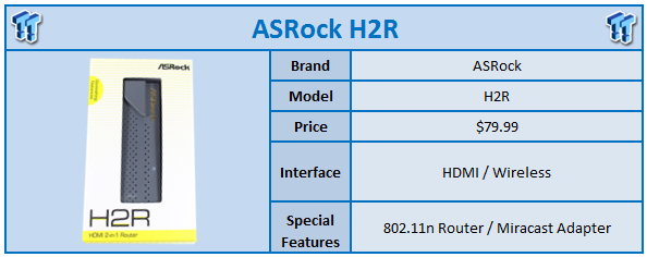 ASRock H2R 802 11n Wireless Travel Router and Miracast