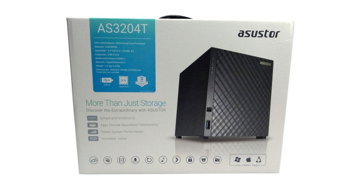 ASUSTOR AS3204T Four-Bay Consumer NAS Review