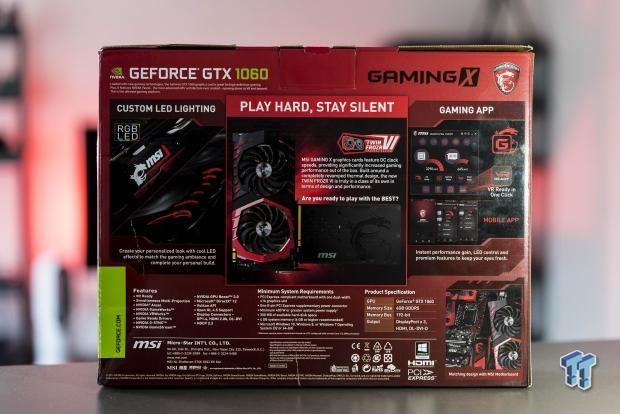 MSI GeForce GTX 1060 Gaming X 6G Graphics Card Review
