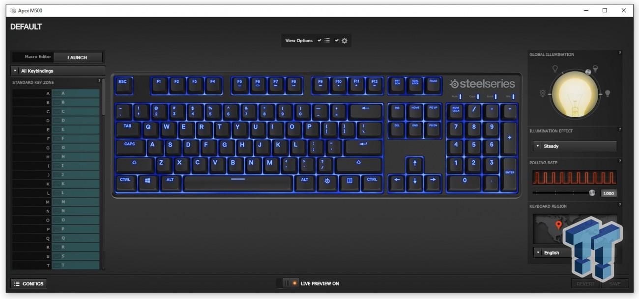 Steelseries Apex M500 Mechanical Keyboard Review Tweaktown