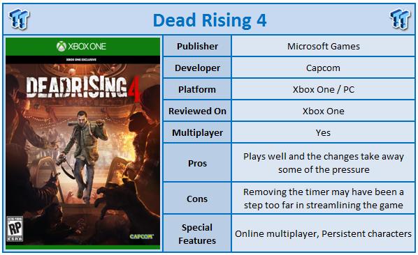 Dead Rising 4 Xbox One Review Tweaktown