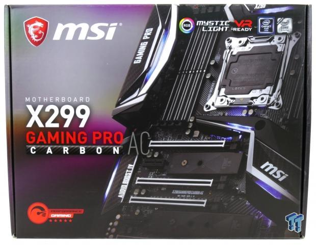 MSI X299 GAMING PRO CARBON AC Motherboard Review