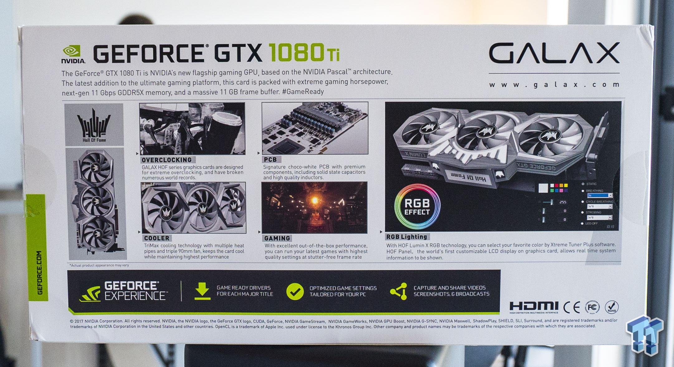 GALAX GeForce GTX 1080 Ti HOF: Performance King with LCD