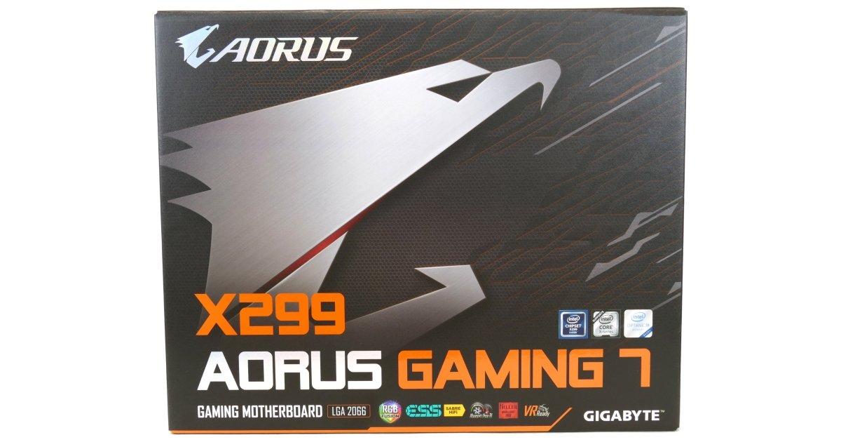 GIGABYTE X299 AORUS Gaming 7 Motherboard Review