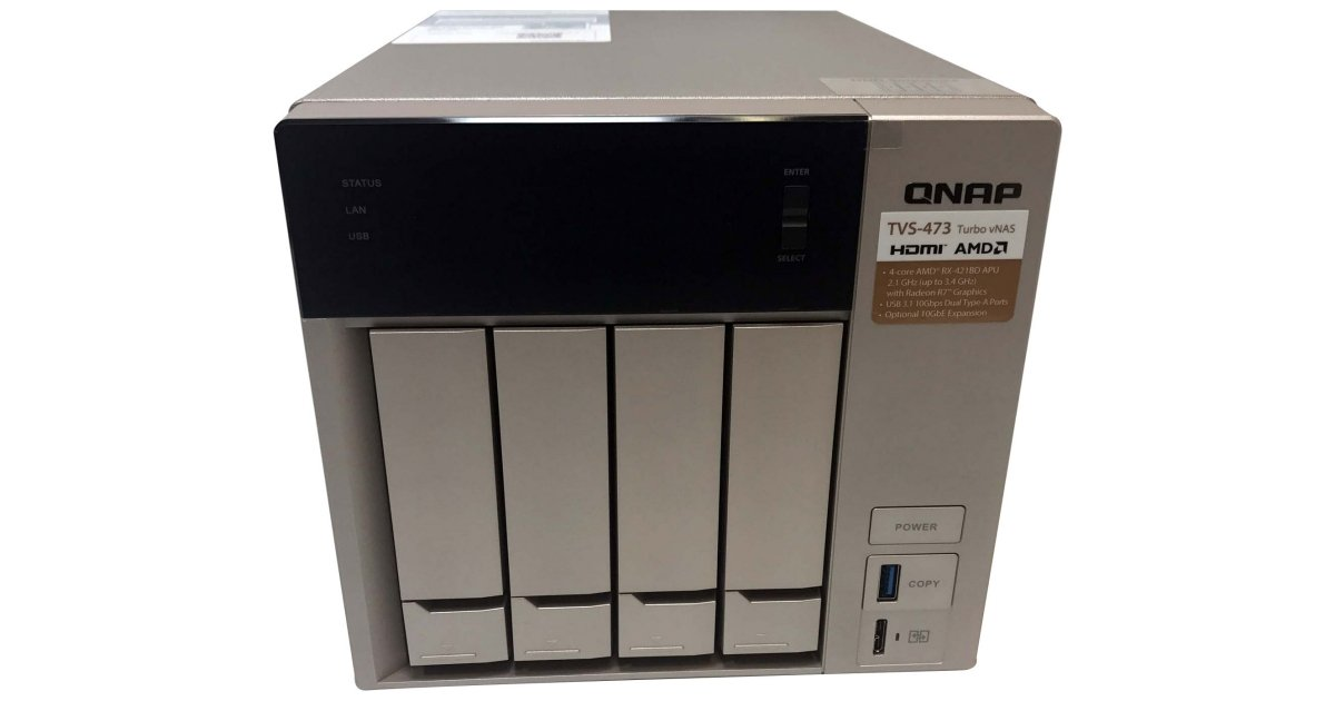 QNAP TVS-473 SMB NAS (Tested at 10Gbps) Review