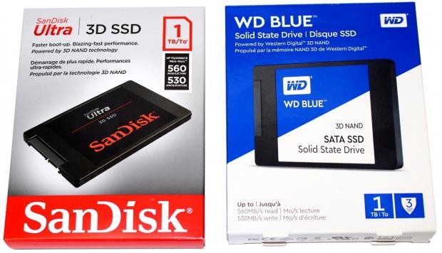 WD Blue 3D & SanDisk Ultra 3D 1TB SATA III SSDs Review