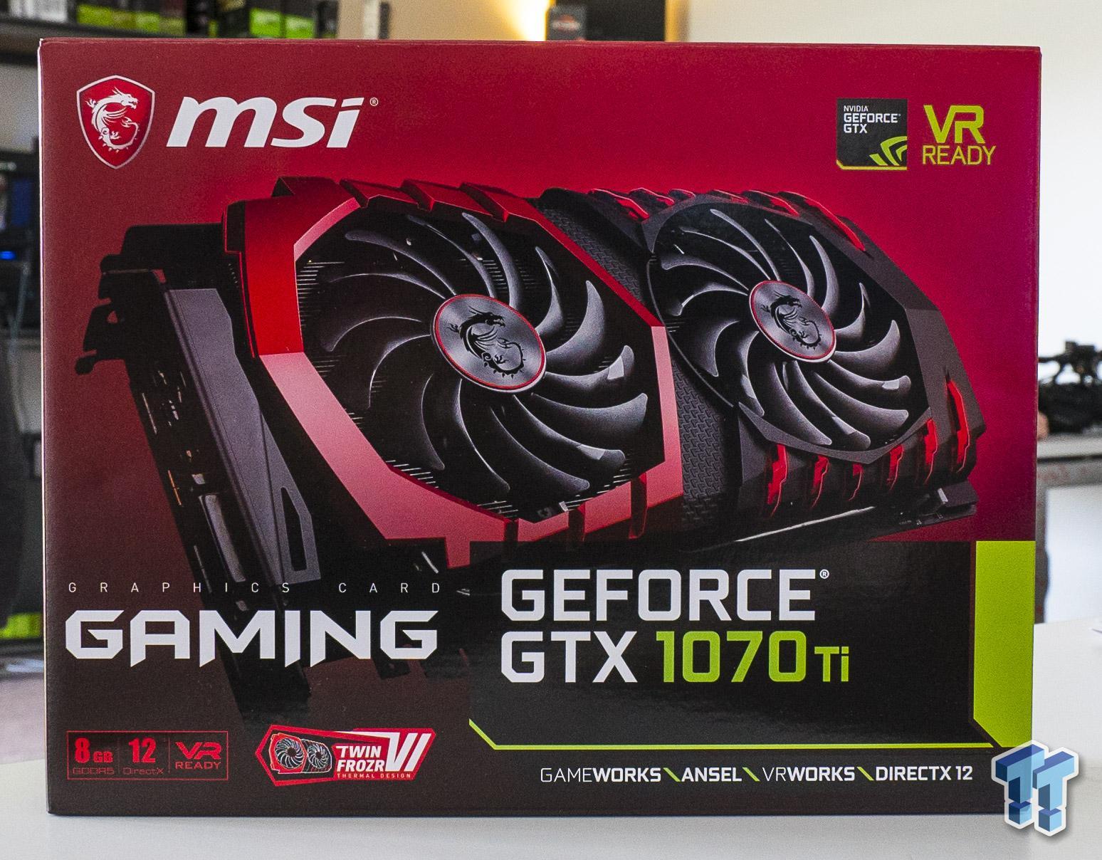MSI's new GeForce GTX 1070 Ti Titanium + Gaming: Unboxed