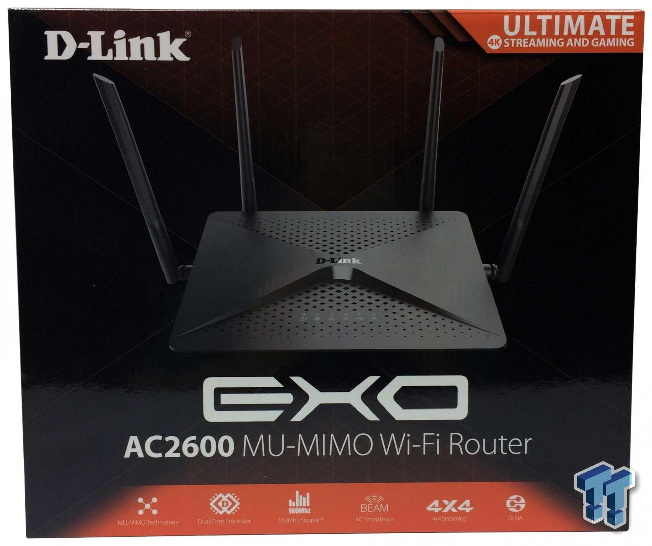 DIR-882-US D-Link EXO AC2600 MU-MIMO WiFi Router 4x4 Dual Band Wireless Router